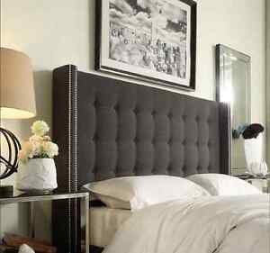 Image Is Loading June High Floor Winged 6ft Super Kingsize Headboard