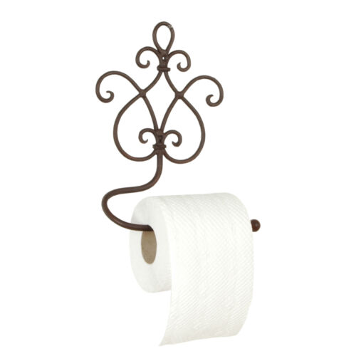 Clayre /& FED Distributeur de Papier Toilette Porte-rouleau Métal Shabby 17x2x22cm Maison de campagne