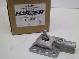 (BOX OF 5!) HARGER AUBU58I 5/8 ALUMINUM UNIVERSAL BASE CB FREE SHIPPING!
