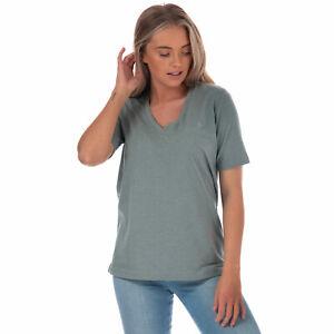Para-mujer-Henri-Lloyd-Jayne-jaspeado-de-manga-corta-con-cuello-en-V-Camiseta-en-verde