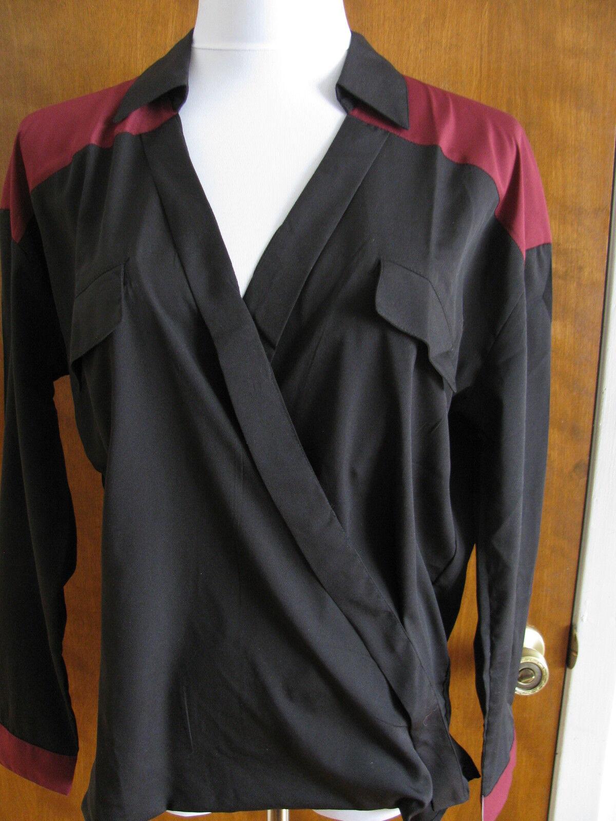 Romeo & Juliet damen's schwarz burgundy stylish top Größe medium NWT