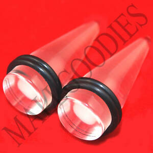 0631-Acrylic-Clear-Stretchers-Tapers-Expanders-5-8-034-Inch-16mm-Transparent-Plugs