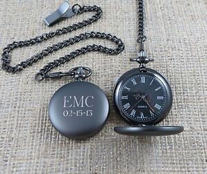 personalized pocket watch monogrammed gifts for men groomsmen