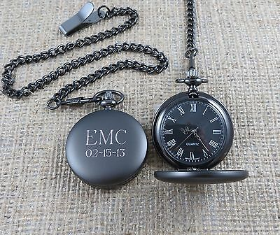 Personalized Pocket Watch - Monogrammed - Gifts for Men - Groomsmen Gifts (775)