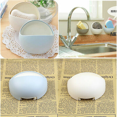 New Suction Wall Soap Holder Bathroom Shower Cup Dish Basket Tray Strong