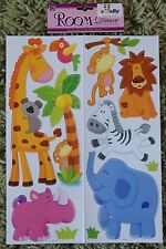 Jungle Animal Wall Stickers Decals Stickarounds Baby Kids Girls Boys Bedroom