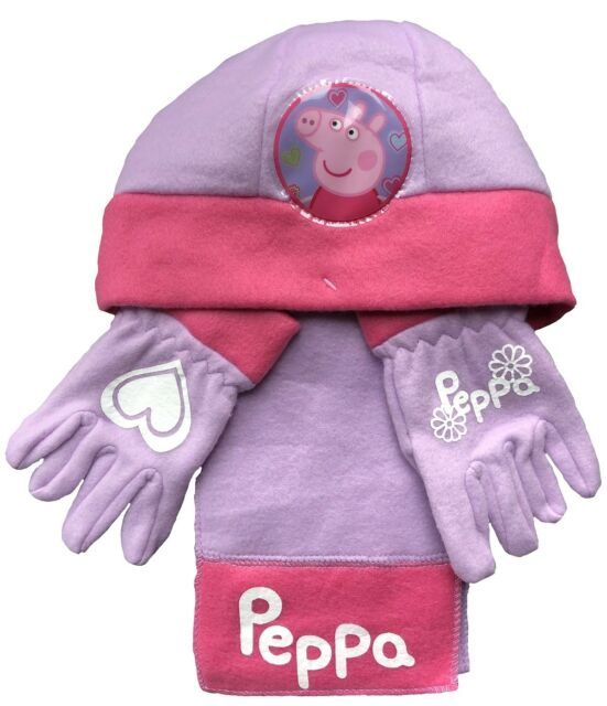 b47e6efa29c5c Peppa Pig Hat Gloves and Scarf Set 3 - 5 Years for sale online