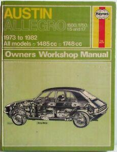 Haynes-Austin-Allegro-1973-1982-Tous-Modeles-Manuel-Atelier-Proprietaire