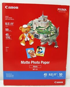 Canon-Photo-Paper-Plus-Matte-8-1-2-x-11-50-Sheets-Pack-Brand-New