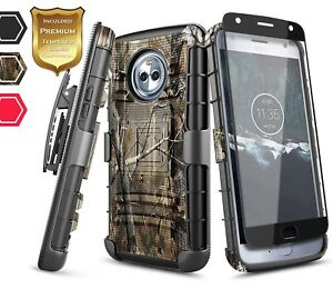 official photos 0e378 e6e48 Details about For Motorola Moto X4 2017 NageBee® Rugged Armor Shockproof  Holster Case Cover