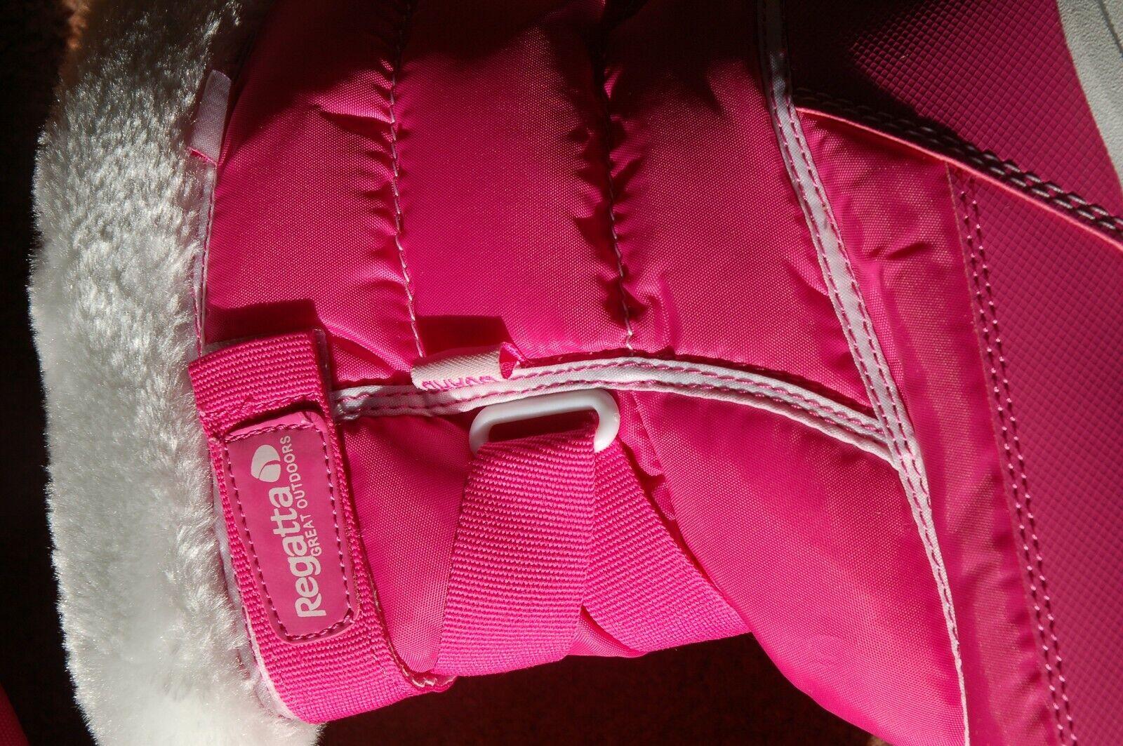 New UK 6 6 UK Regatta Snow cadet Isotex Thermo Guard ATL Rosa  Weiß Fur Lined Stiefel 8284d4