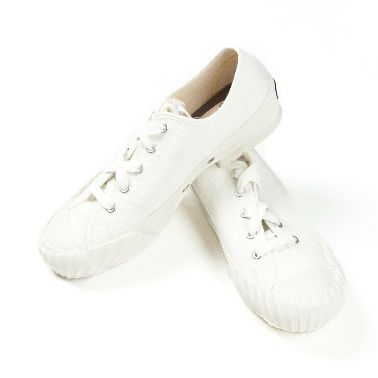 18ceee96f8c Cushman WW2 Low Cut Sneaker White Vintage Style Military Trainer US Sizes  6-11