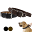 thumbnail 2 - Leather-Dog-Collar-With-Handle-For-Dog-Pet-Control-Training-Heavy-Duty-M-L-XL
