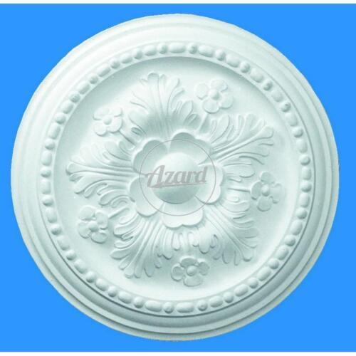 Rosone in gesso diametro 30 cm rinforzato in fibra di vetro per soffitto