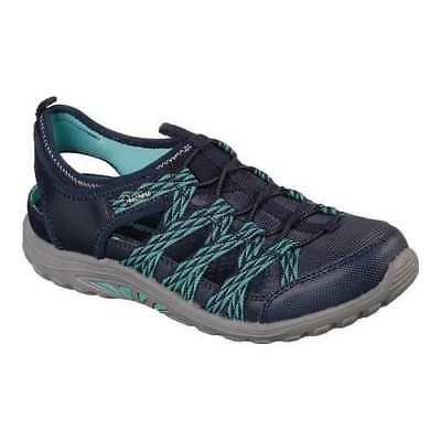 Skechers Women's Reggae Fest-squirt 49445 Navy/teal Memory Foam Brand New Relieving Heat And Sunstroke Comfort Shoes Clothing, Shoes & Accessories