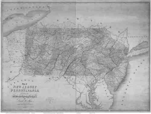 HUGE 1839 PA Map Pine Grove Pottsgrove Rankin Reamstown Stewartstown Warminster