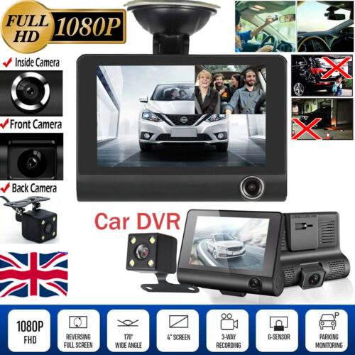 Car DVR Dual Lens Dash Cam Front and Rear Video Recorder Camera G-sensor 1080P