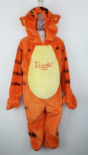 fd66d122045e Disney Store Tigger Costume Childs XS Full Body Hooded Winnie the Pooh  Halloween