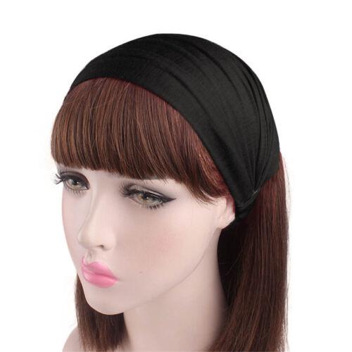 Women/'s Cotton Wide Hair Band Turban Scarf Elastic Headband Sports Bandanas