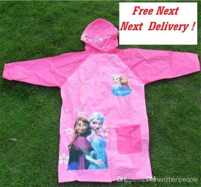 Disney Girls Official Frozen 2 Elsa Anna Hooded Transparent Mac BNWT