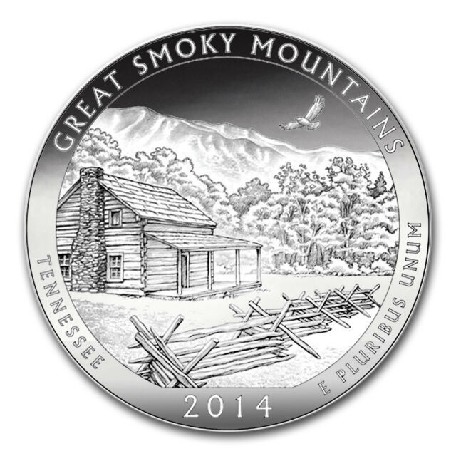 2014 5 oz Silver ATB Great Smoky Mountains National Park, TN - SKU #80979