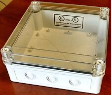 "Weatherproof Electrical Enclosure Box Plastic NEMA 4 Clear Lid 6 3/4""x6 3/4""x3"""