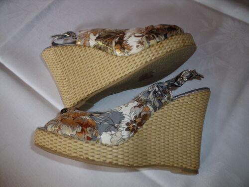 37 4 Portée Sandales pour femmes Uk Sandales Nouveau Jamais Sandale compensée Coloré Gr OR8OwYq
