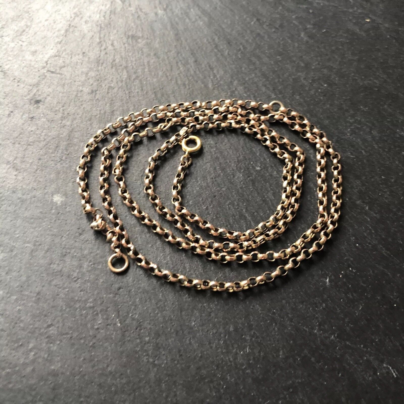 Vintage Yellow gold Long Guard Chain