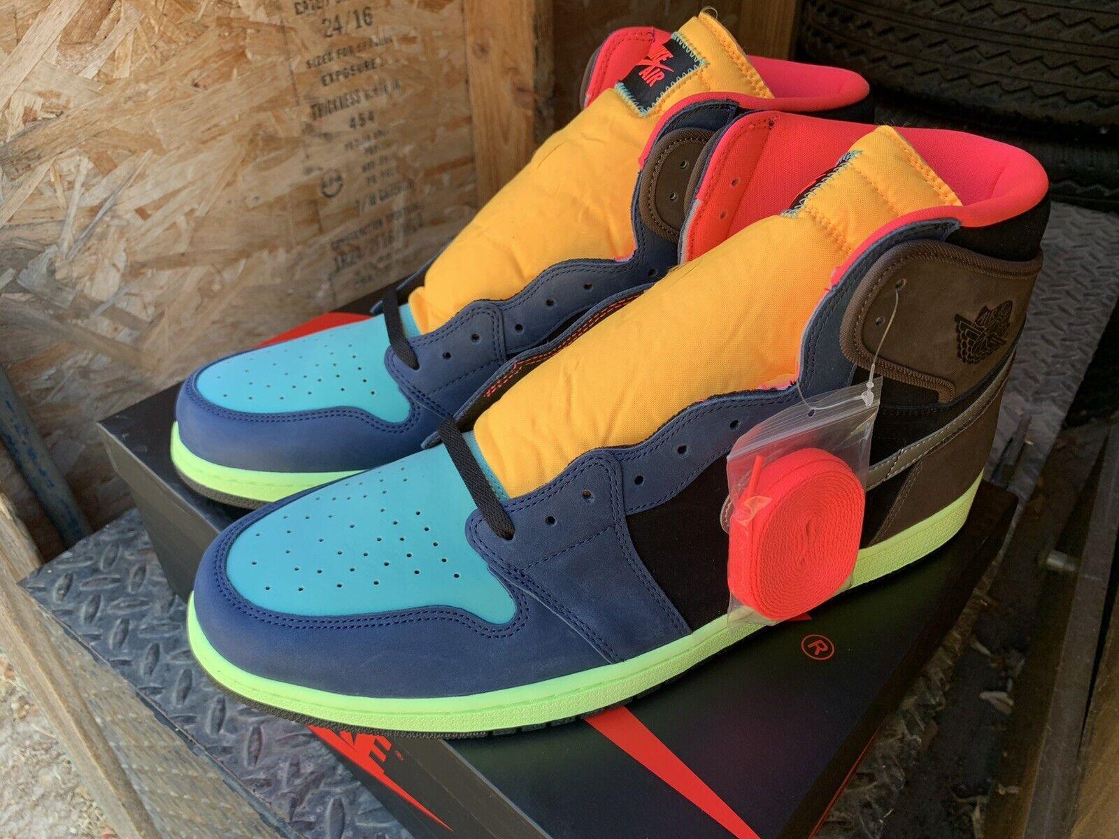 Nike Air Jordan 1 Retro High OG Tokyo Bio Hack GS Size 7y