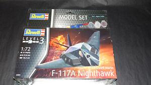 Maquette-12-Revell-F-117-A-Nighthawk-Model-set-1-72