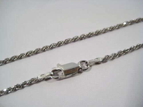 1,6 mm TOP qualità//prezzo Collane da 40 a 90 cm catena corda VERO argento 925