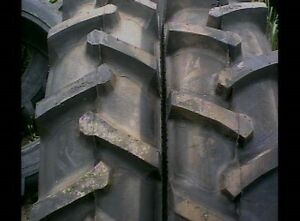 TWO-23-1x26-FORD-JOHN-DEERE-12-ply-Tubeless-R1-Bar-Lug-Rear-Tractor-Tires