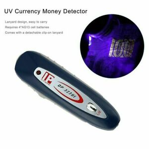 UV light counterfeit fake forged bank note money tester detector light check