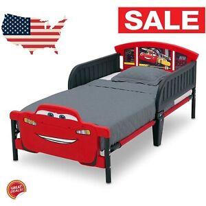 Details about Toddler Bed Frame With No Mattress Girls Boy Race Car Kids  Bedroom Furniture Set
