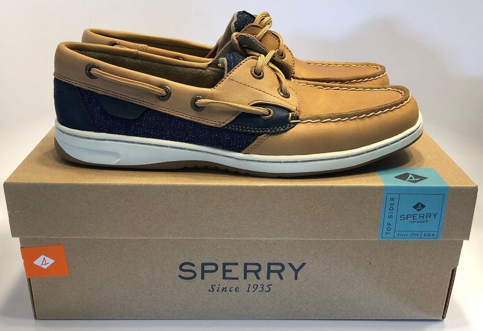 Sperry Top -Sider Wouomo blufish Nubby Linen Navy Boat  scarpe STS9433 US 8.5  risparmia il 35% - 70% di sconto