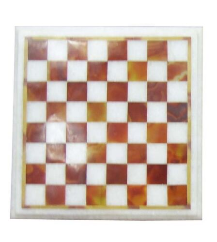 """15/"""" Marble Ebony Chess Board Red Inlay stone pieces Play /& Gifts Halloween Decor"""