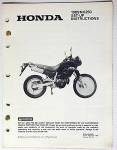 1989 NX250 Set-Up Instructions Manual NX 250 Original w/ Wiring Diagram    eBay