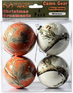 Realtree-Mimetico-Natale-Ornamenti-Arancione-e-Bianco-Neve-Mimetico-Vacanza