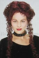 Burgundy Gothic Queen Saloon Gal Wig