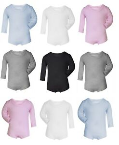 fab512b7 100% Cotton BABY BOY/GIRL Long Sleeve Babygrow Vest Grow Bodysuit ...
