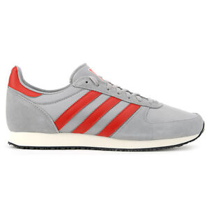 Adidas-Men-s-ZX-Racer-Grey-White-Red-Shoes-S79206-NEW