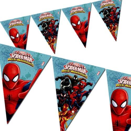 Spiderman Wimpelkette Web-Warriors-Look 2,3m Partywimpel aus Folie