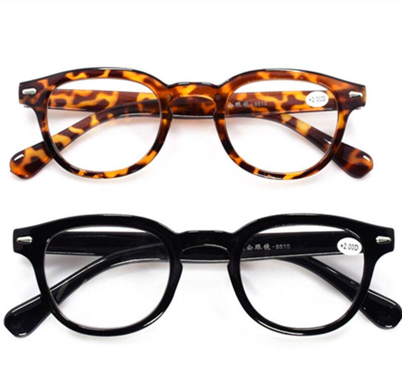 f079d274d25 Vintage SHURON S Horned Rim Reading Glasses Eyeglasses Spring Hinged ...