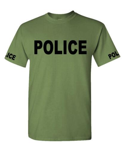 POLICE Mens Cotton T-Shirt novelty duty law enforcement