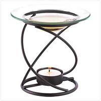 Modern Art Spiral Candle Holder Wax Tart Oil Warmer Burner Diffuser Aromatherapy