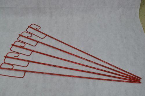 5 Einschlagpfosten Haltepfosten 130 CM Für Ketten Warnband Warnzaun Absperrung