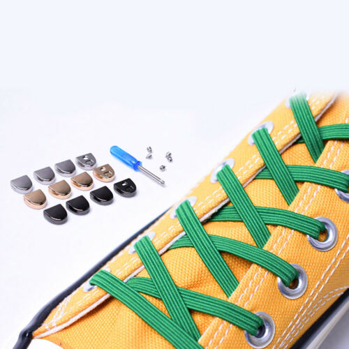 Simple Sport Canvas Shoelaces No Tie Elasticity Quick Easy Lazy Shoelace Sneaker