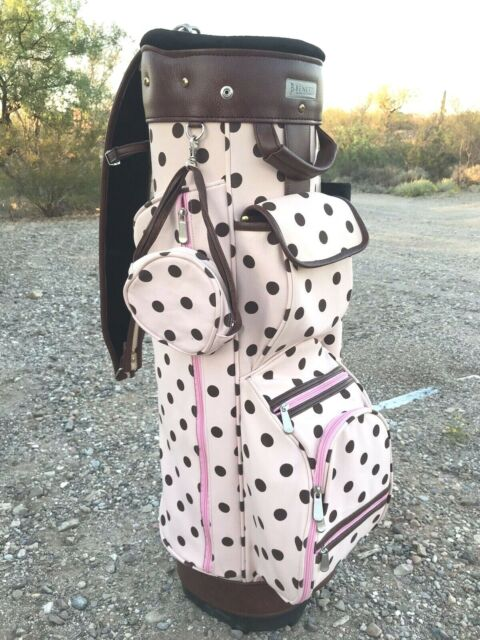 Benetti Golf Bag Pink Brown Polkadot Pattern Unique Promo Bag Rare 6 Slot Ebay