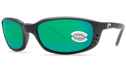 NEW Costa del Mar Brine BR 11 OGMGLP Matte Black Frame Green Mirror 580G Lens
