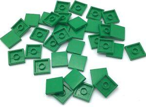 smooth flat tile 2x4 Green Tile x 10 NEW LEGO 2 x 4 TILES